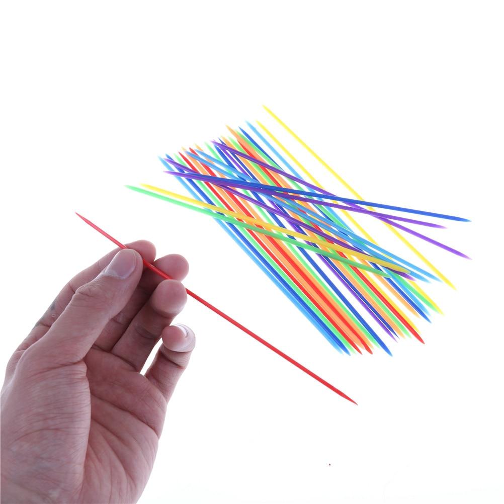 30pcs//set Classic Plastic Pick Up Sticks Set Traditional Game Toy YL
