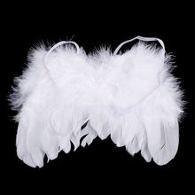 WHYY-Baby newborn photo shoot costume angel wings photography post angel feather with flower hair band