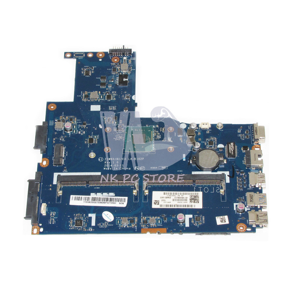 все цены на  ZIWB0 /B1E0 LA-B102P Main Board For Lenovo B40 B40-30 Laptop Motherboard 14 Inch N3520 CPU DDR3  онлайн