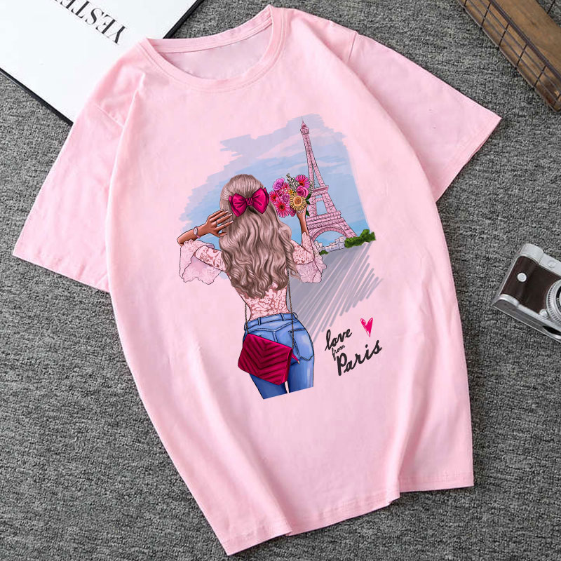 CZCCWD Women Clothes 2019 Summer Fashion Thin Section   T     Shirt   Love Grom Paris Harajuku Kawaii Female   T  -  shirt   Leisure Tshirt Top