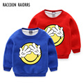 Girls and Boys Face lovely printing fleece sweater hoody,kid lovly long  sleeve winter warm heavy sweater top , free shipping