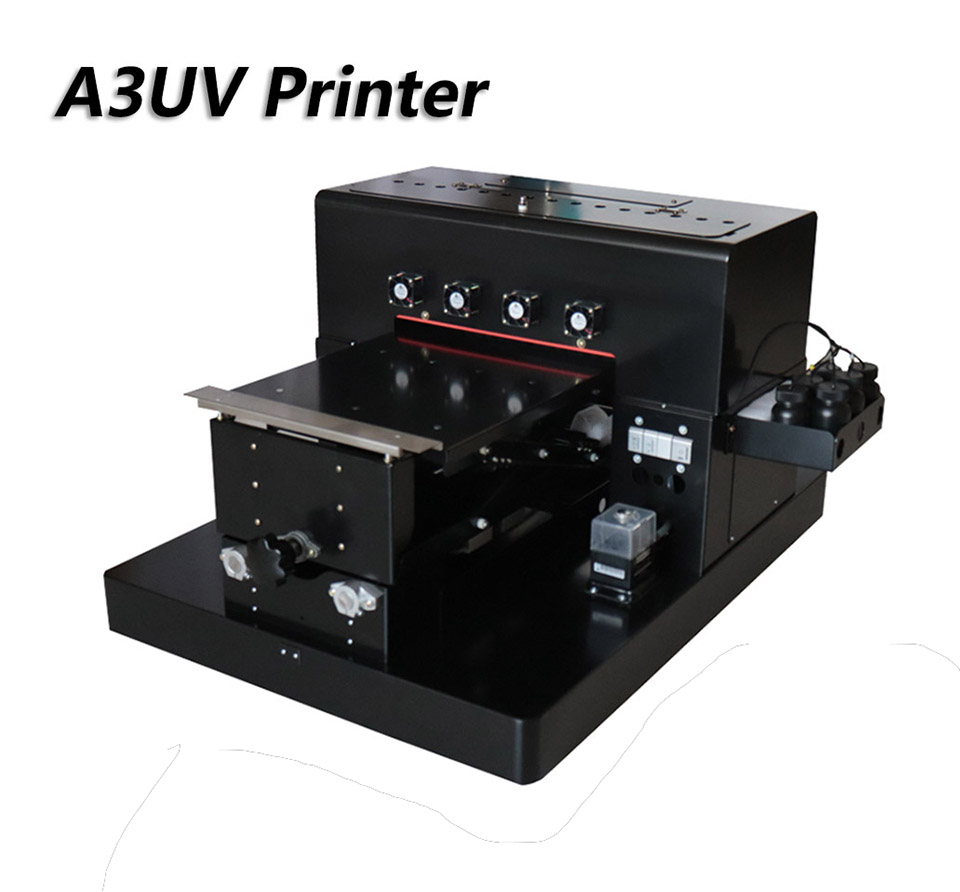 2019 A3 UV Flatbed Printer 6-color UV Print Machine with emboss - Office Electronics - Photo 1