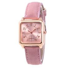 Women Watches 2019 Luxury Brand Square Dial Quartz Watch Women Fashion Casual Leather Wrist Watch Female Clock Relogio Feminino цена