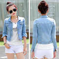 2017 Spring Autumn New Design Denim Jacket Short Jeans Jackets For Women Rivet Washed Vintage Denim Jackets Basic Coats Outwear