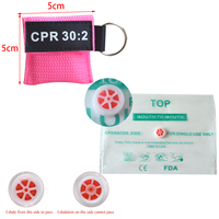 200pcs CPR Resuscitator Mask 30:2 Disposable First Aid Skill Training Face Shield Breathing Mask Mouth Breath One way Valve Tool