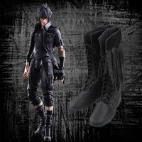 Final Fantasy XV Sapatos Cosplay Noctis Lucis Caelum Cosplay Botas Homens Adultos Sapatos Jogo Halloween Natal Acessórios Personalizados