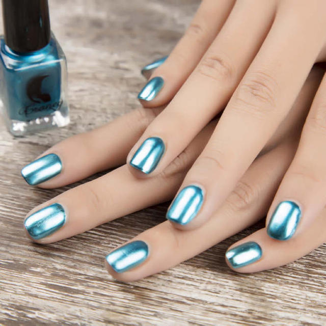 Shellhard 1pc 6ml chrome nail polish mirror silver nail art polish shellhard 1pc 6ml chrome nail polish mirror silver nail art polish magic laquer chrome gold effect prinsesfo Image collections