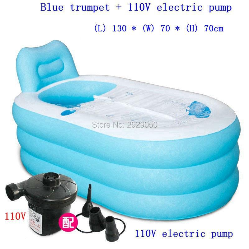 Size 130*70*70cm,With Electric Pump,Thickening Adult Inflatable Bathtub,Folding Ttub,Portable Bathtubs,Child Bath Basin