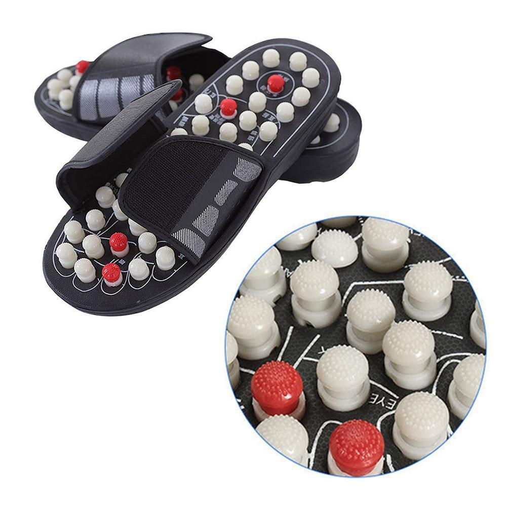Acupuncture Healthy Relaxation Man And Women One Pair Foot Slipper Sandals Reflex Stress Rotating Foot Massage Shoes 4