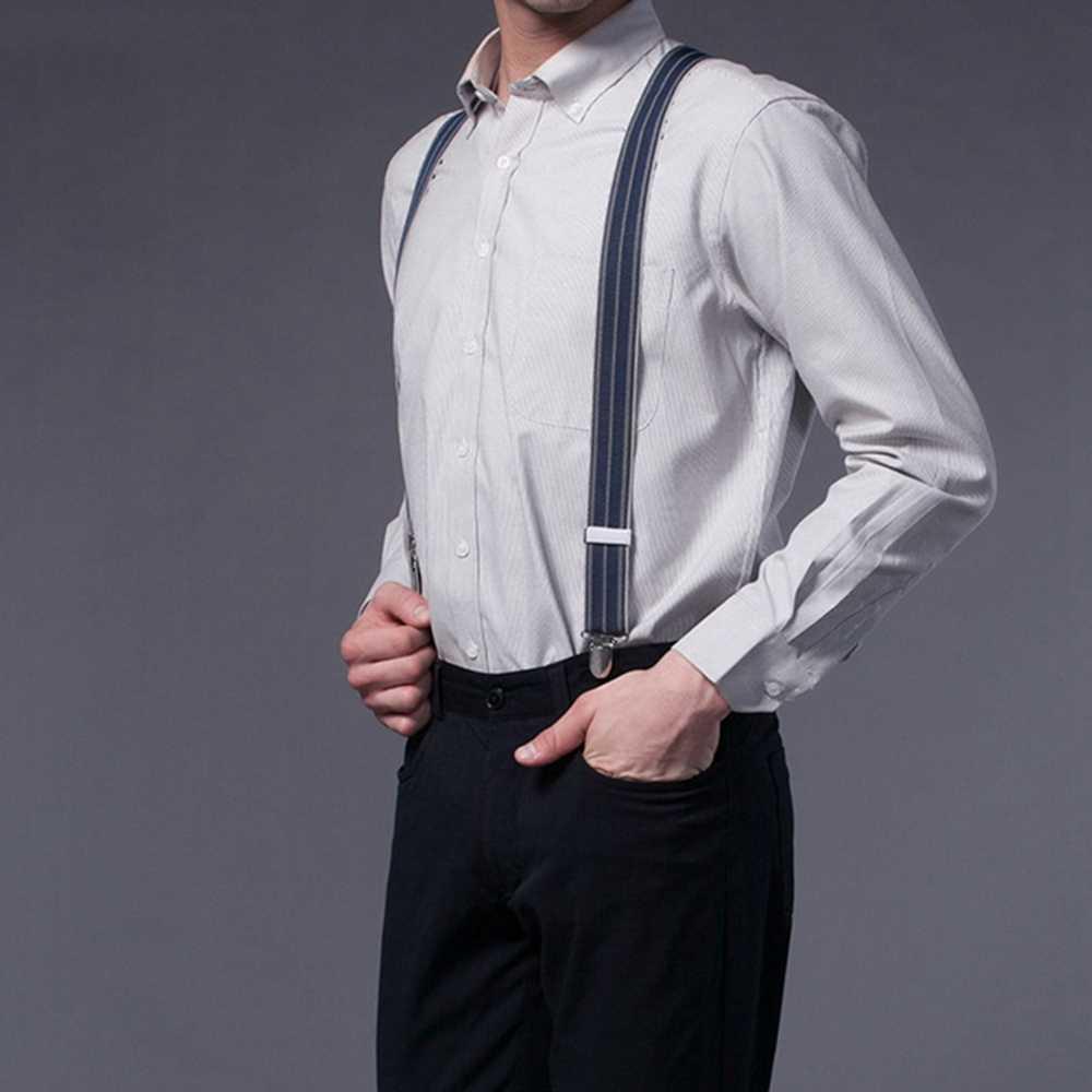 الأزياء الحمالات جلد أسود 6 مقاطع الأقواس الذكور خمر عارضة الحمالات السراويل حزام الأب/الزوج هدية 3.5*110 cm