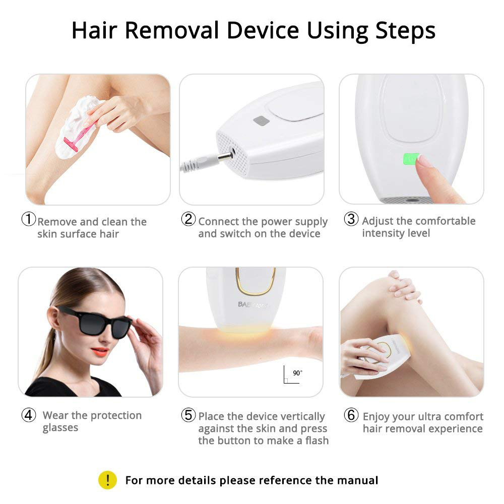 Image 5 - Home Hold Depilatory Laser Mini Hair Epilator Permanent Hair Removal IPL System 500000 Shot Light Pulses Whole Body Hair Remover-in Epilators from Home Appliances