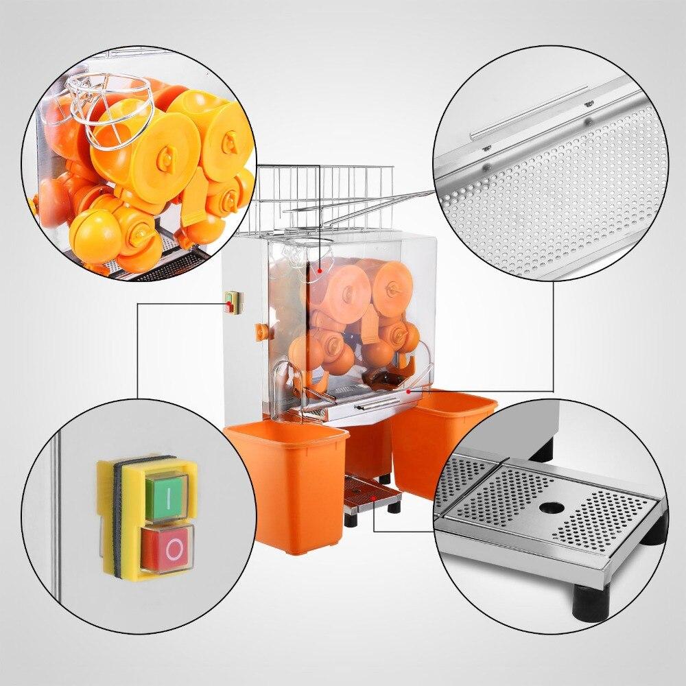 Inteligente Granadas Limones Naranja Máquina Exprimidor Hogar Y Comercial De Acero Inoxidable Y Plástico De La Pc 120 W