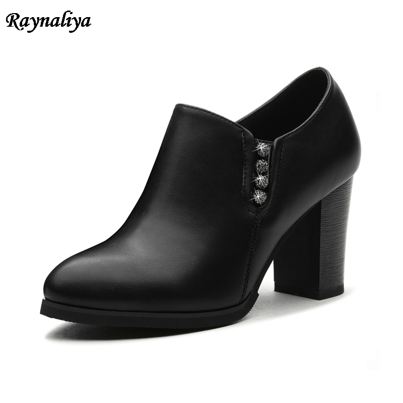 Fashion Hot Sale New Arrive Spring Autumn Women Shoes Sexy Thick High Heels Pointed Toe Zip Ankle Boots Square Heel LSN-B0068 2016 spring new fashion women hot sale nightclub sexy fine with platform high heeled shoes ol shoes baok 8e36
