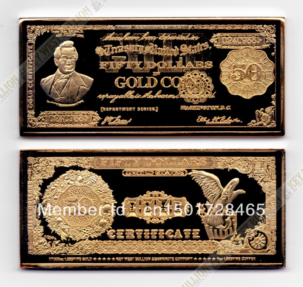 Free Shipping 2013 1 Oz 1882 Series 50 Wright Gold Certificate