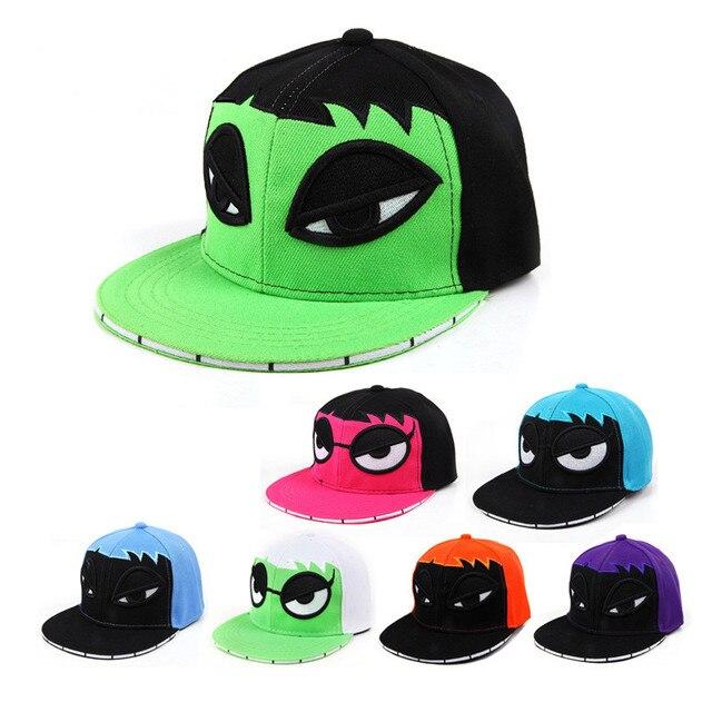 0ef896699c6 Fashion children Monster snapback baseball cap embroidery Cartoon hip-hop  hat for boy girls kids caps adjustable hats casquette