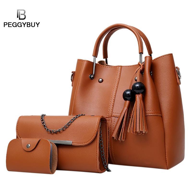 Для женщин 3 шт./компл. Ленточки цепи сумки на ремне модные дизайнерские PU карты сумка многоцелевой клатч композитный Повседневное простой С...