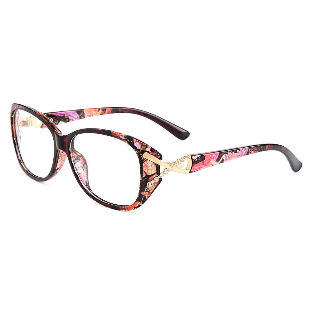 Gmei TR90 Urltra-Luz Da Moda Aro Completo Óptica Mulheres Óculos Ópticos Quadros Femininos óculos de Plástico Óculos de Miopia Presbiopia M1689