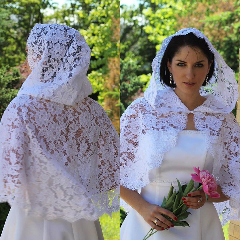 2019 Short Lace Bridal Bolero Shawls Cheap Custom Made Wraps Wedding Cape Cloak
