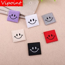 VIPOINT embroidery smile patches face badges applique for clothing YX-105