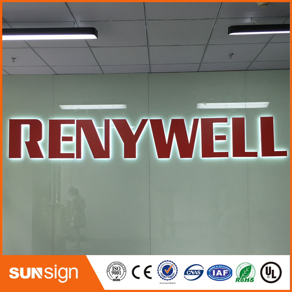 Factory Outlet Outdoor Advertising Decor Letter Light Waterproof Stainless Steel Backlit Led Signs