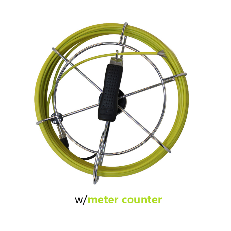 Hard Fiber Glasses Cable With Connector Meter Counter Cable For 23mm Pipe Inspection Snake Camera Replacement