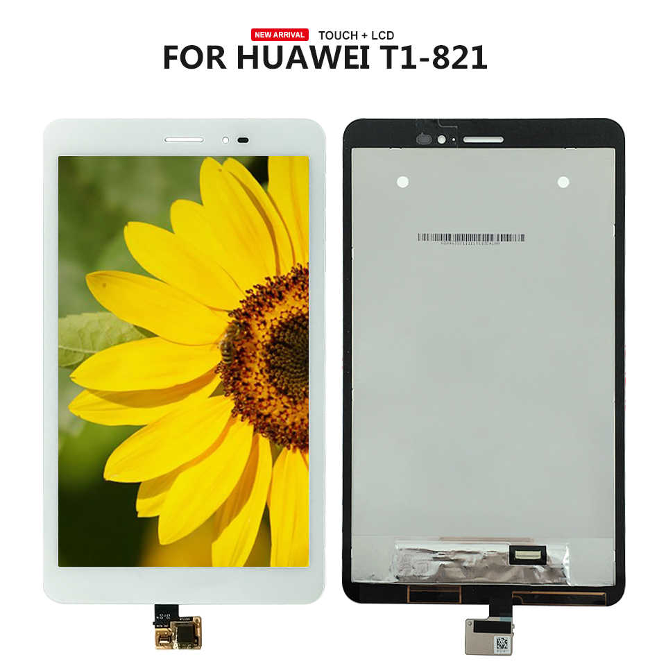 עבור Huawei MediaPad T1-823L T1-821W T1-821L T1-821 LCD תצוגת מסך מגע Digitizer פנל זכוכית עצרת חלקי