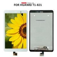 Для Huawei MediaPad T1-823L T1-821W T1-821L ЖК-дисплей сенсорный экран дигитайзер панель Стекло в сборе