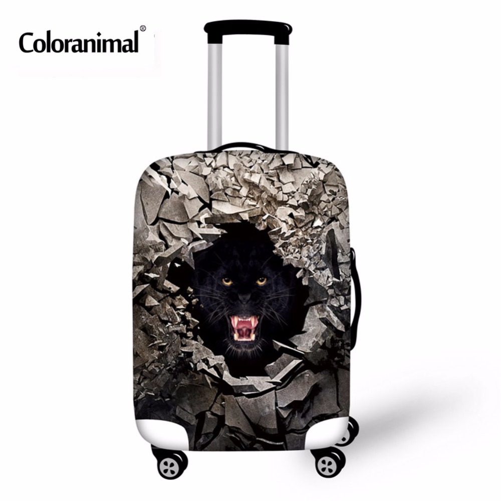 Coloranimal 3D Animal Print Polyester Travel Luggage Suitcase Protective Cover Stretchy Durable Travel Luggage Cover With Zipper