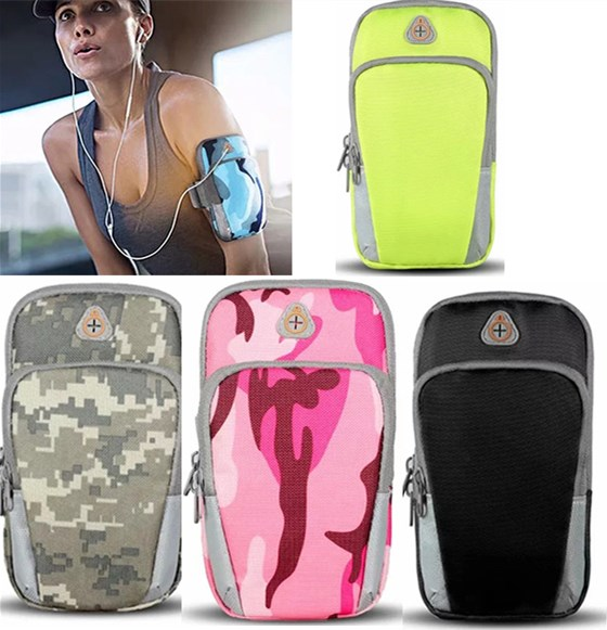 camouflage waterproof 6 inch mobile phone arm band bag pouch outdoor sport running case armband holder on hand for iphone