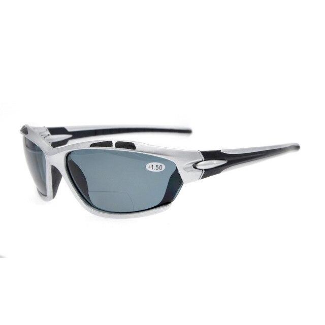 TH7007 ثنائية البؤرة Eyekepper TR90 غير قابلة للكسر الرياضة ثنائية البؤرة النظارات الشمسية + 1.0/1.5/2.0/2.5/3.0