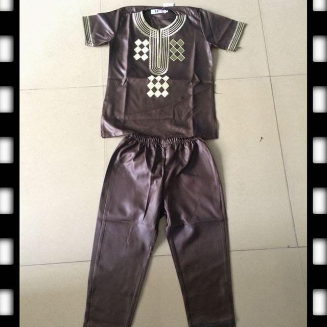 dashiki parent kid set 2018 african kids clothing african men dashiki clothing bazin riche shirt pant two 2 piece suits children 3