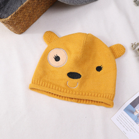 2018 Fashion Baby   Beanie   Hat Winter Girls Warm Thick Hot Sale Knit Hats Boys Kids Crochet Crimping   Skullies     Beanies   Caps