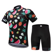 Summer Pro Ropa Ciclismo Maillot Bicycle Clothes Quick Dry Bike Cycling Short Jerseys and Gel Breathable Pad Bib Short