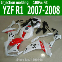 White Fairings For YAMAHA YZF R1 07 08 ( Scorpion sticker ) 2007 2008 free customize Injection fairing kit TL17