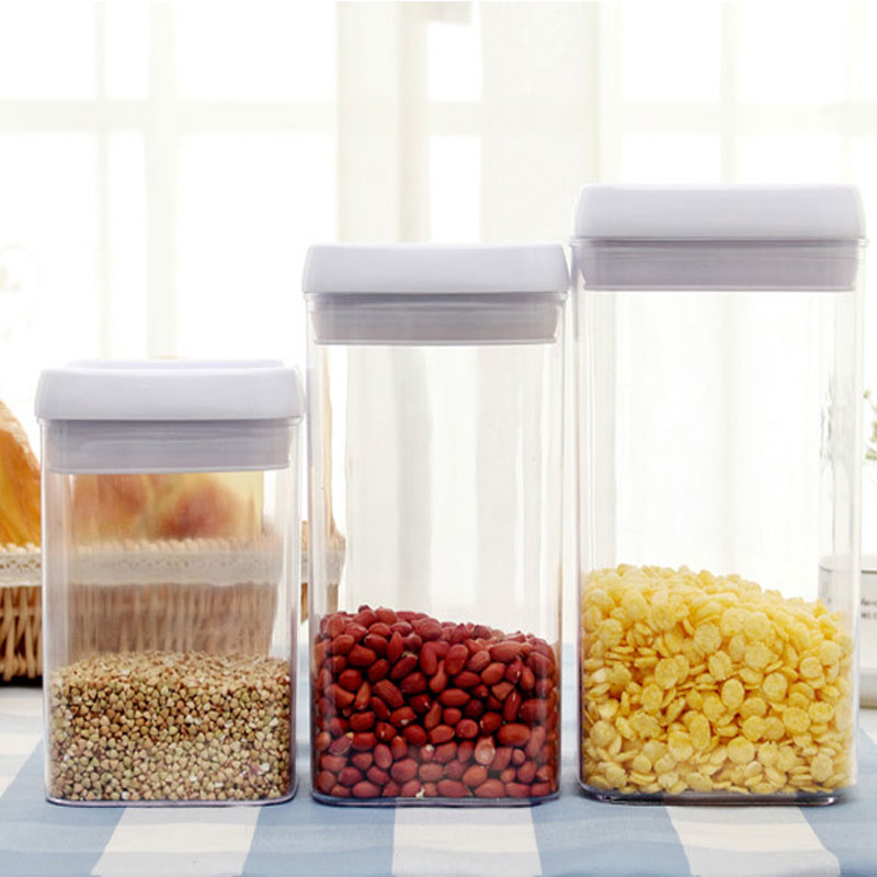 Vacuum Sealed Can Preservation Storage Box For Miscellaneous Grain Snack Food Container Kitchen Accessories Organizer Sugar-bowl