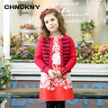 Single Button kids cardigans for girl sweater winter 2016 Cotton girls cardigan sweater kid clothes
