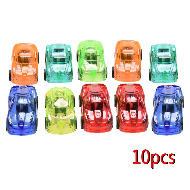 10Pcs/Set Pull Back Car Plastic Cute Toy Cars For Child Kids Educational Gift