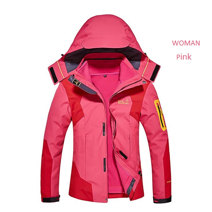Winter Outdoor Hiking Jacket Waterproof Woman Man Mountain Climbing Camping Travel Outerwear Women 2 Pieces Suits Men  blog flashlight outdoor 5led pocket strong waterproof 8 hours to illuminate mountain climbing camping p004