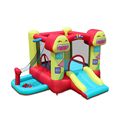 2017 Mejor calidad castillo hinchable castillo inflable con tobogán para los niños. los juguetes inflables para niños, juguete de salto inflable, carrera de obstáculos