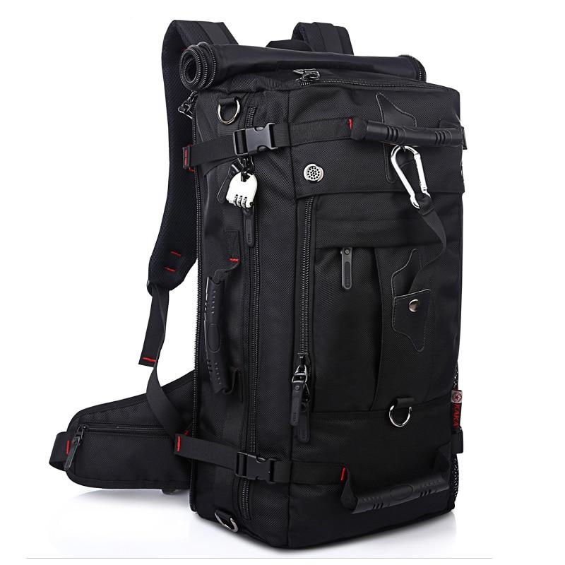 KAKA Männer Rucksack Reisetasche Große Kapazität Vielseitig Utility Bergsteigen Multifunktionale Wasserdichte Rucksack Gepäck Tasche-in Rucksäcke aus Gepäck & Taschen bei  Gruppe 3