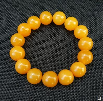 Fine Jewelry Gemini And Virgo Gift Yellow Huanglong Yu Round Beads Bracelet Natural Yu Stone Beaded Bracelet Jewelry Lucky Stone For Taurus