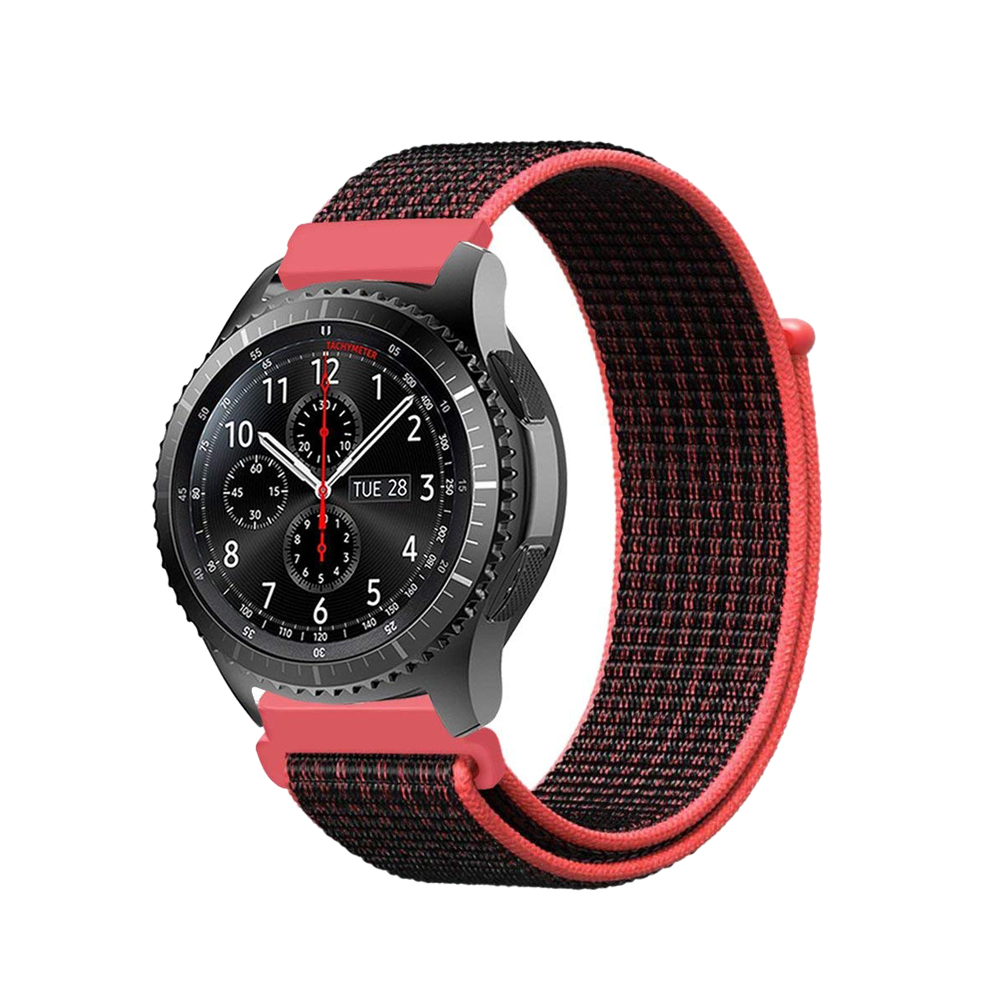 Sport loop for Samsung gear S3 frontier/classic strap 22mm nylon loop band bracelet for Huami Amazfit Pace/Stratos 2/1 22mm genuine leather watch strap for samsung gear s3 classic frontier band for samsung r760 r770 huami amazfit pace stratos 2 1