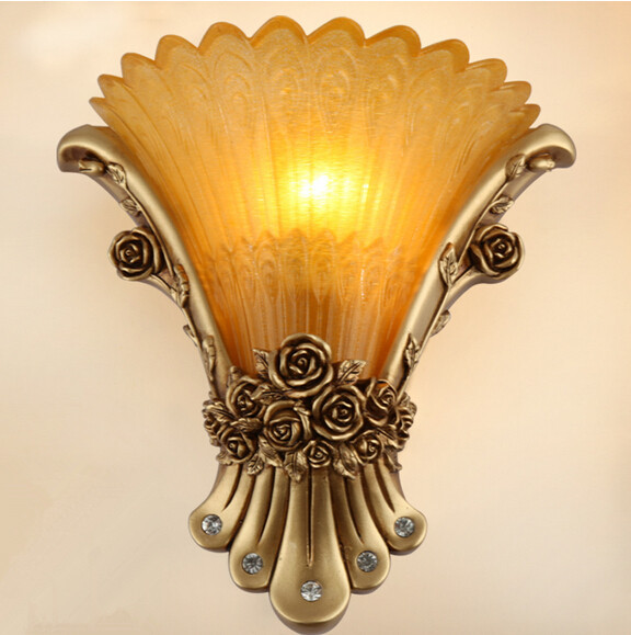 European-style wall lamp bedside lamp bedroom living room TV wall lamp aisle stairs  Wall lights balcony lights,E14, AC110-240V. wall light 12w led wall lamp bedroom bedside living room hallway stairwell balcony aisle balcony lighting ac85 265v hz64