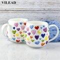 Керамическая кофейная кружка VILEAD 380 мл с милым сердцем  костяные фарфоровые чашки для живота  фарфоровая кружка для молока  чайная чашка  Офи...