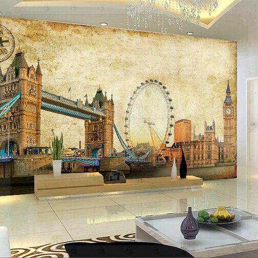 Custom any size 3D wall mural stereoscopic wallpaper,Vintage Retro ...