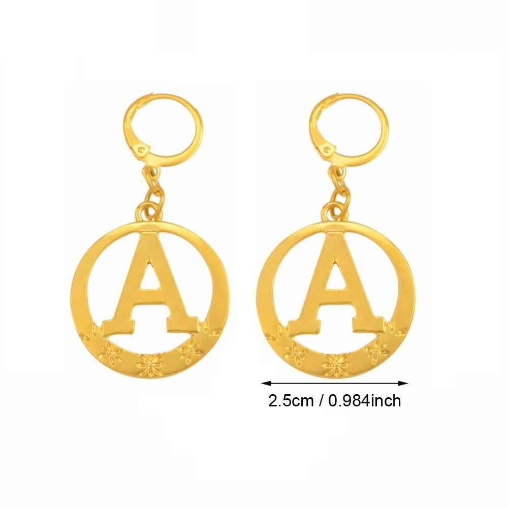 ab0681e1b Anniyo A Z 26 Letter Earrings Alphabet Initial Gold Color Initial Earring  Stud Jewelry Letters for Women Girl #140006-in Stud Earrings from Jewelry  ...