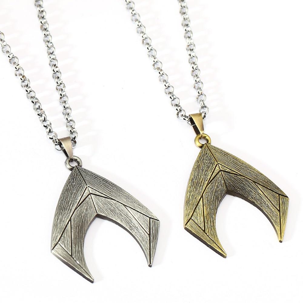 Justice League Necklace Aquaman Charm Pendant Men Women Gift Movie Jewelry Accessories YS11931