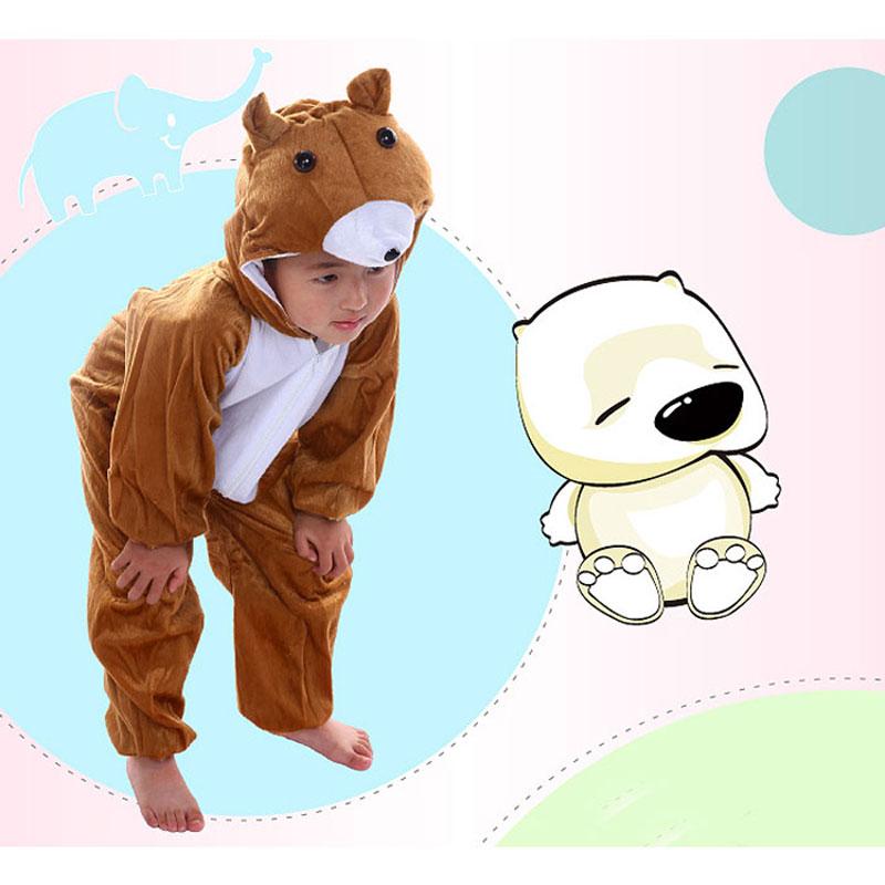 Umorden Gyermekek Gyerekek Baba lány Fiú Rajzfilm Állati kabát Jumpsuit Pajama Bruins Medve jelmez Cosplay Suit Gyermeknapi jelmezek