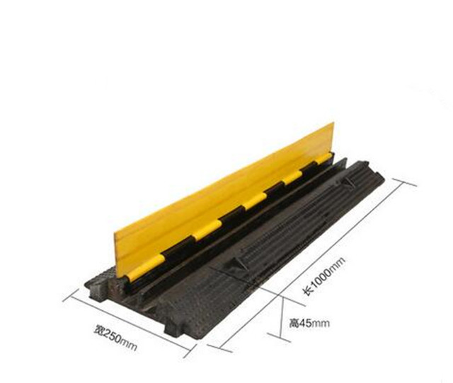 2 Cable Rubber PVC Warehouse Vehicle Electrical Wire Cover Ramp ...