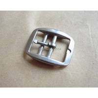 50 PCS/Lot Wholesale Stainless Steel Horse Halter Buckle Saddlery Fitting 1 Inch Leather Buckle With 2 Bars clothes buckl P039
